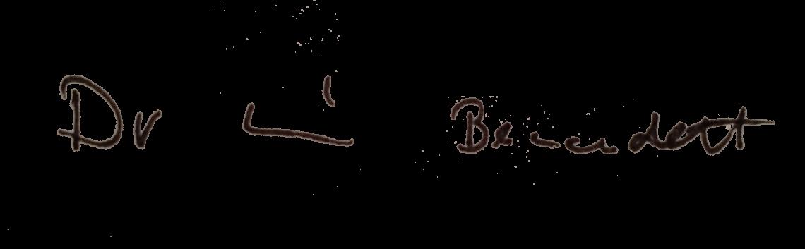 Signature - Dr. Bernadett Racz - Dentist