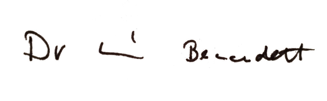 Unterschrift von Dr. Bernadett Racz